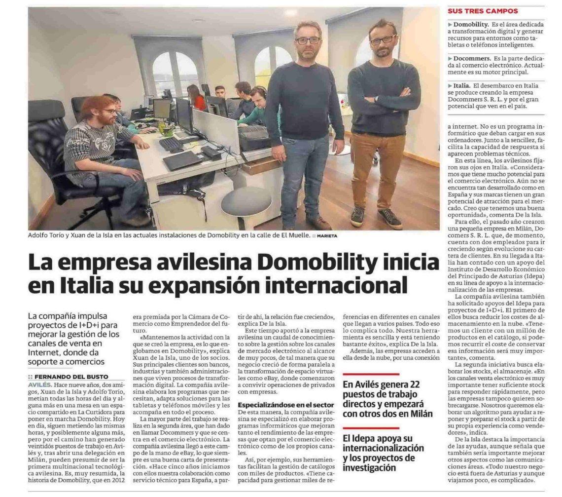 Domobility inicia en Italia su expansión internacional
