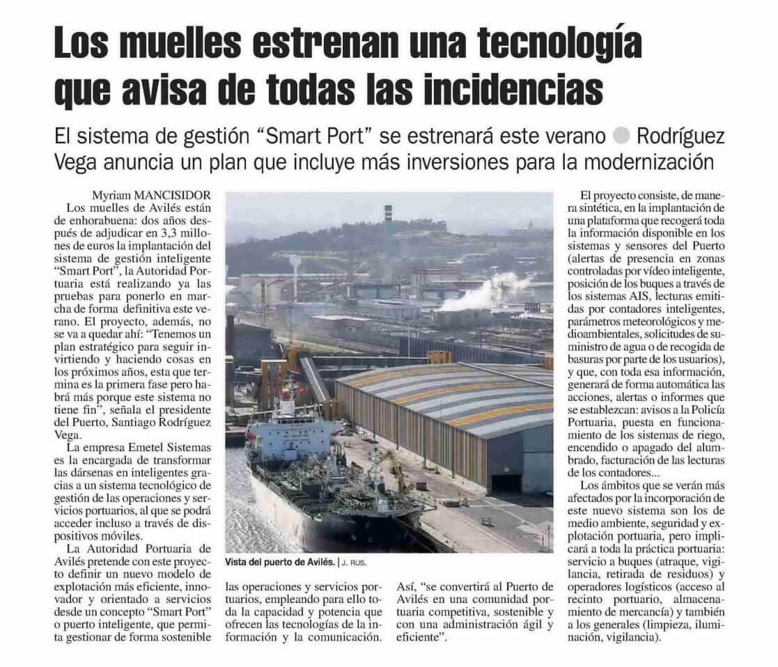 El Puerto de Avilés aplica las tecnologías smart