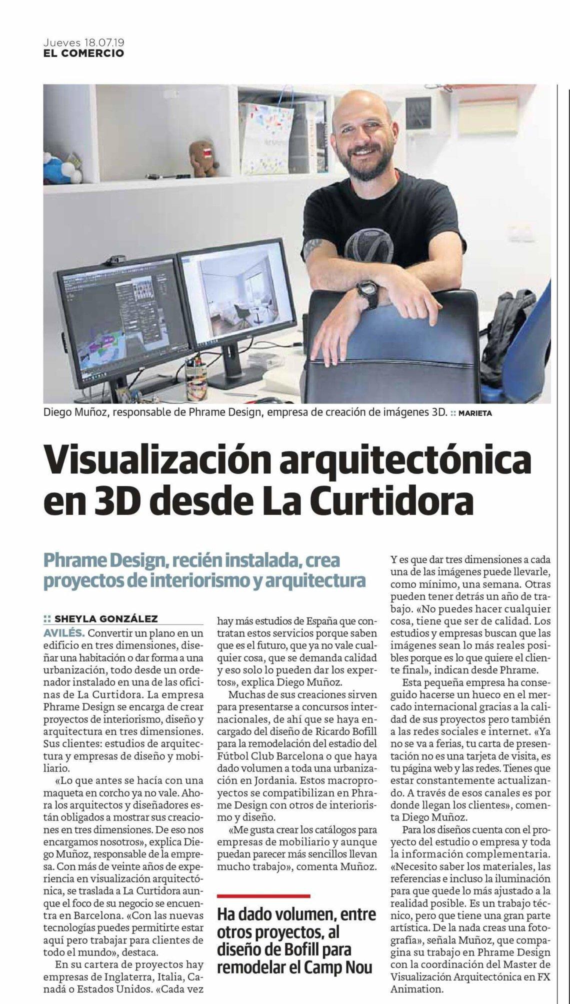 Diseño 3D desde el PCT Avilés Isla de la Innovación