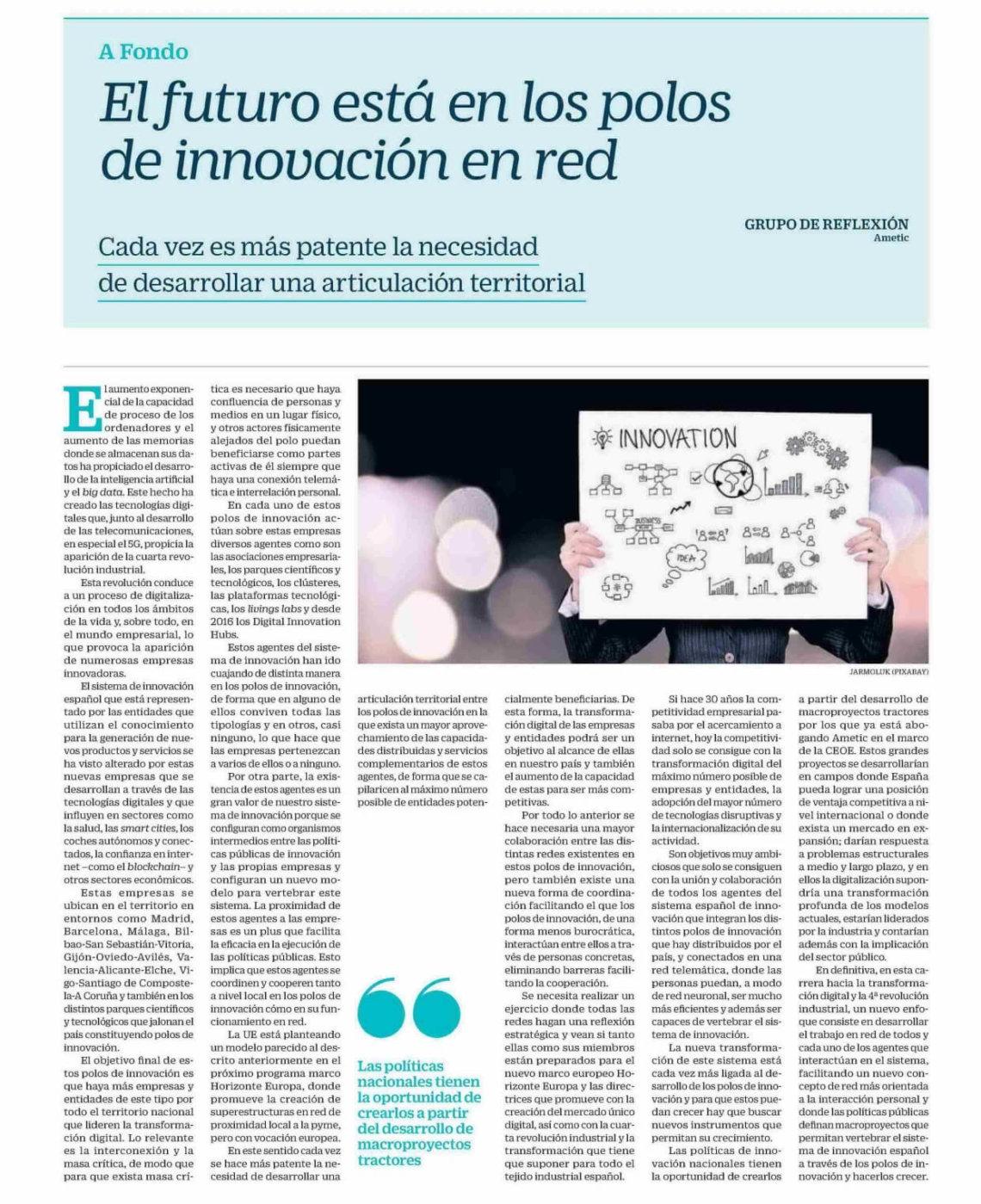 Polos de innovación en red
